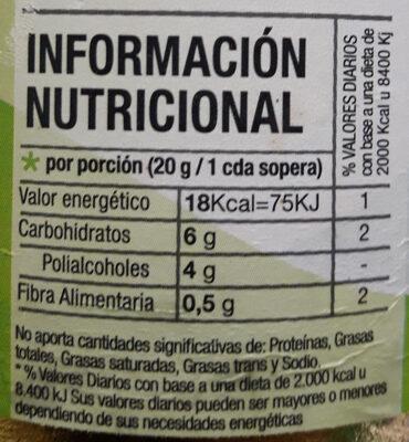 Mermelada de frutilla dietética - Informations nutritionnelles - es