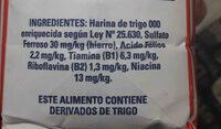 harina de trigo, dona Luisa - Ingredientes - es