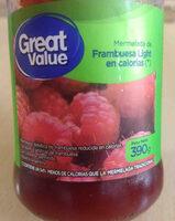 mermelada de frambuesa light great value - Produit - es