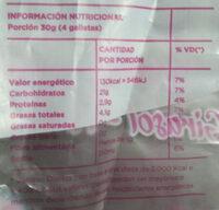 Galletas marineras - Informations nutritionnelles - es