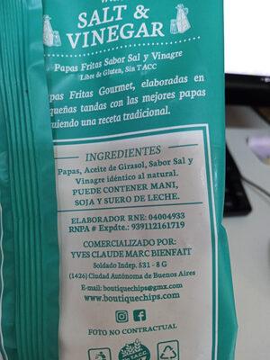 Chips - Ingredients - es
