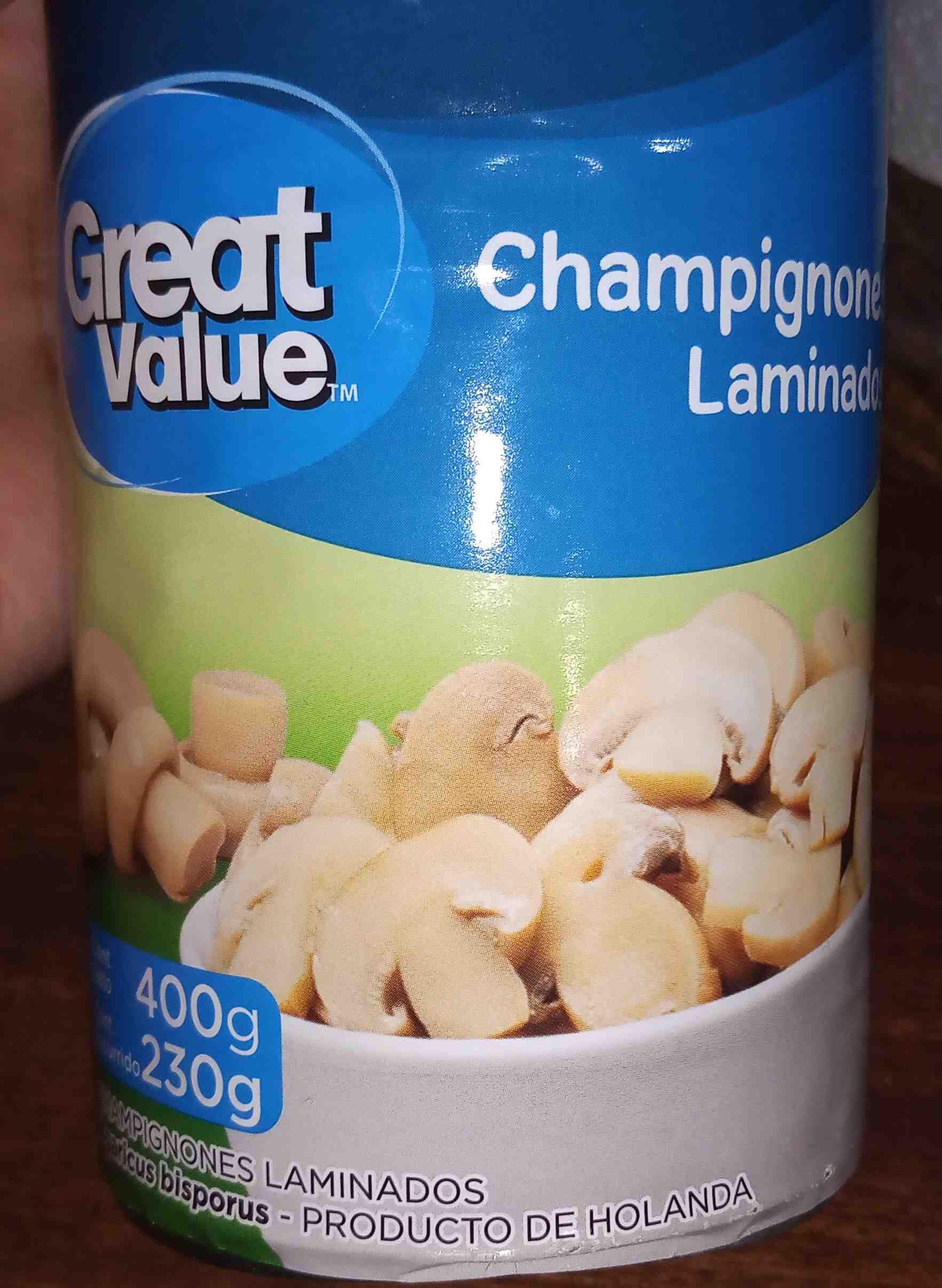 GREAT VALUE Champignones Laminados. - Producte - es