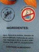 Almendra Original - Ingredientes - es