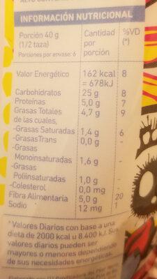 integra - Nutrition facts - es