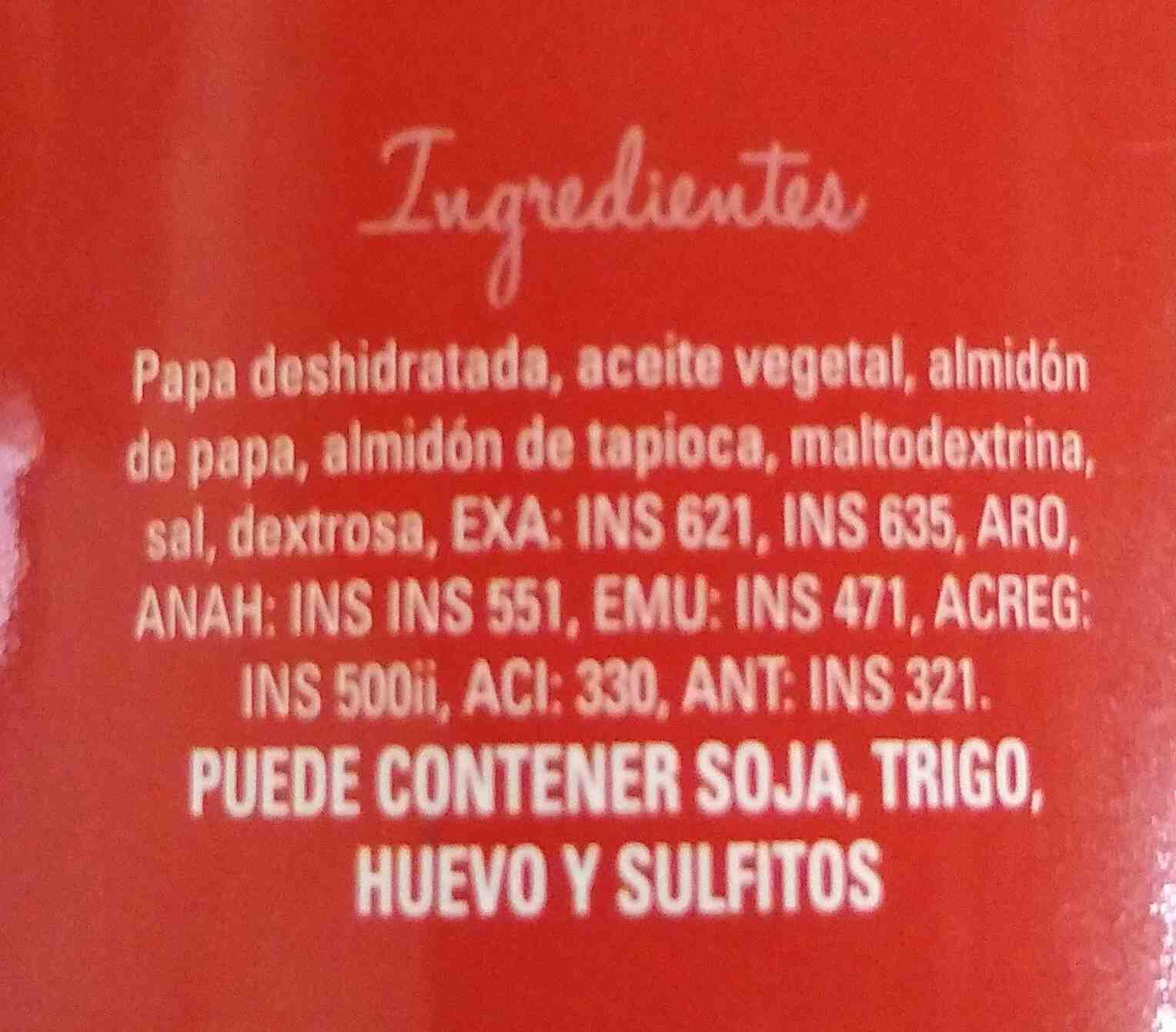 papas la anonima - original - Ingredients - es