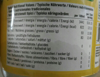 huile de coco extra vierge - Voedingswaarden - fr