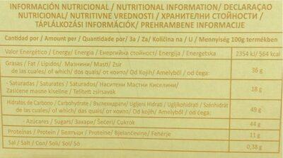 Bon o Bon - Informations nutritionnelles