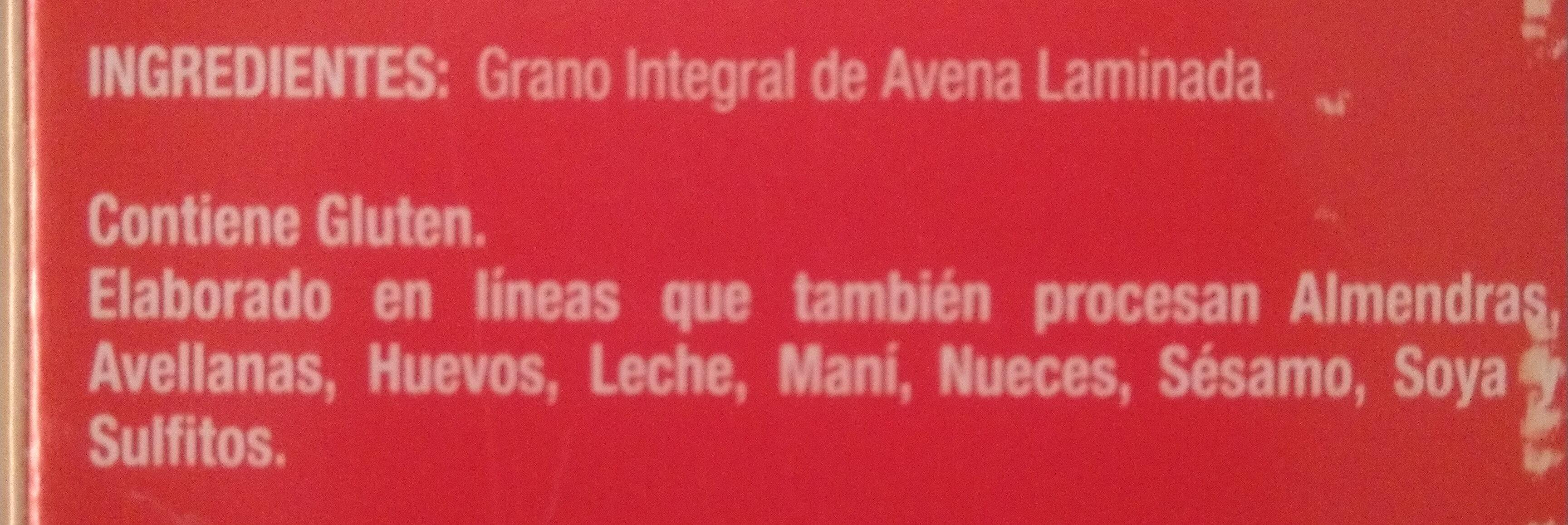 Avena Tradicional - Ingredients - es