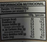 Garbanzos - Ingredients - en