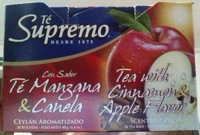 Te Supremo con sabor Té de Manzana y Canela - Product - es