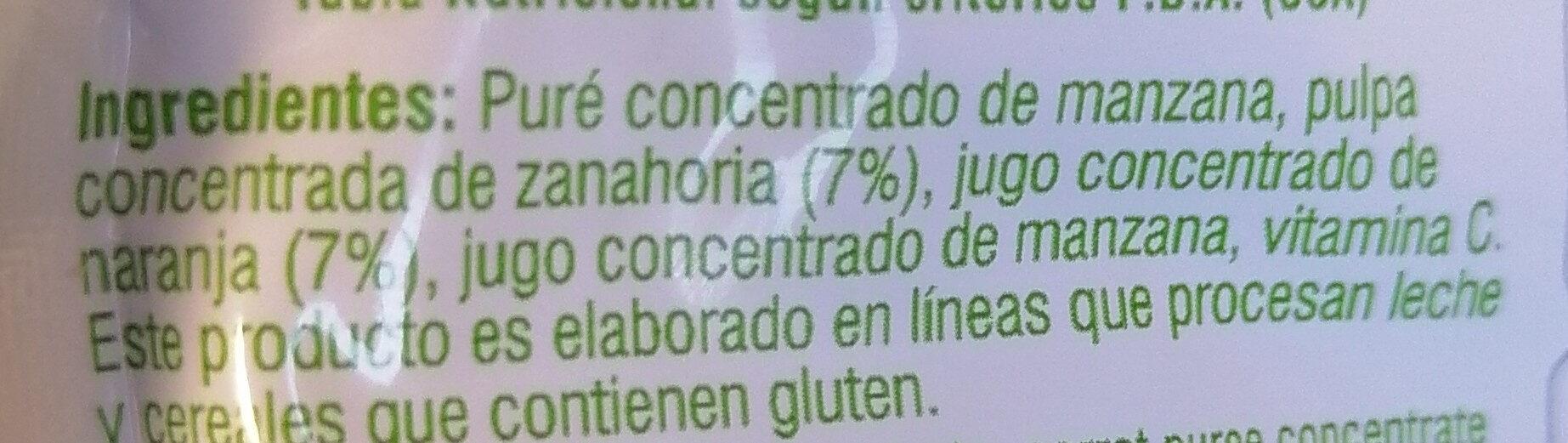 Vivo fruta & veggie - Ingredients - es