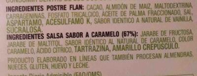 flan vivo - Ingredients