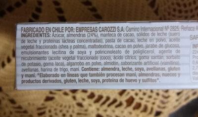 Vizzio - Ingredients - es