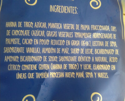 Galletas Chocochips - Ingredients - es