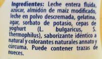 Yogurt Batido 1 LT Vainilla - Ingrediënten