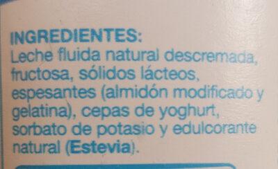 yogurt colun light - Ingrédients - es