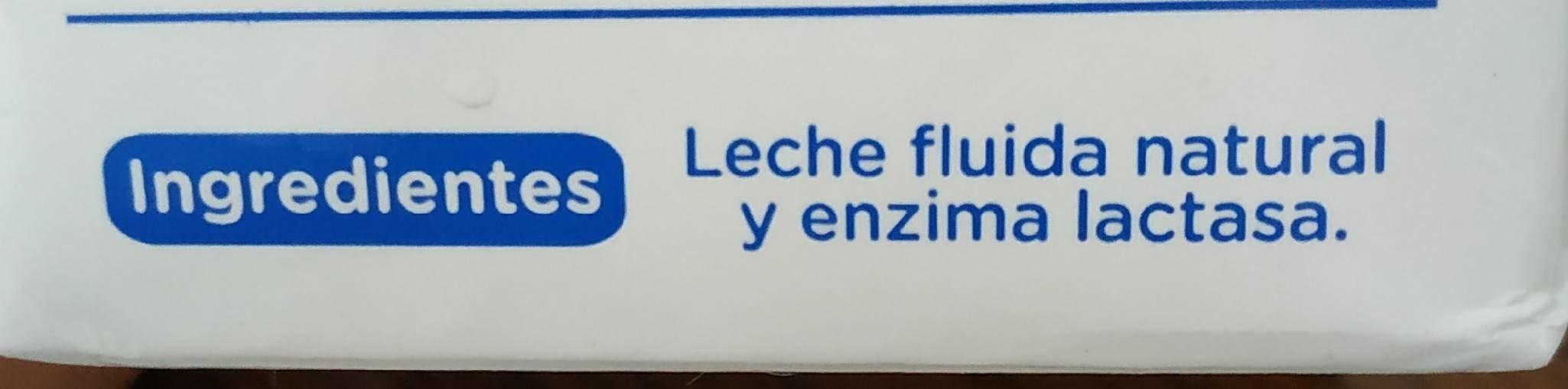 Leche entera sin lactosa - Ingrediënten