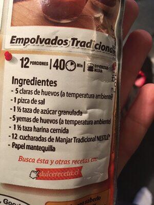 Nestle El Manjar X1KG - Ingrediënten