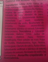 Froota Frutilla - Ingredients - es