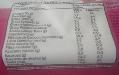 Froota Frutilla - Nutrition facts - es