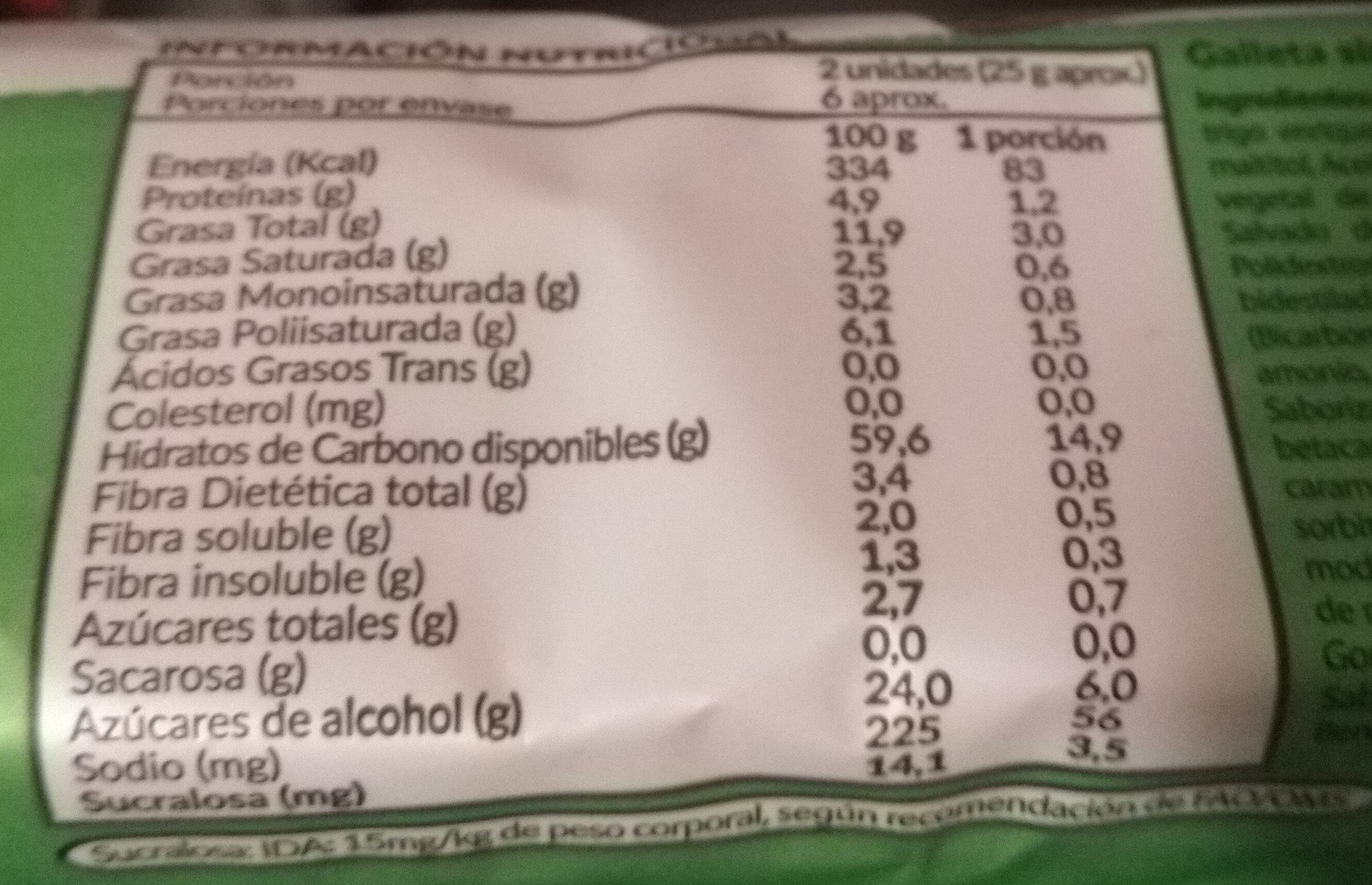 Froota Manzana - Nutrition facts - es