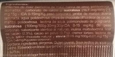 Barra de cereal En Línea Chocolate - Ingredients - es
