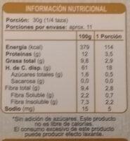 Granola Almendras En Línea - Nutrition facts - es