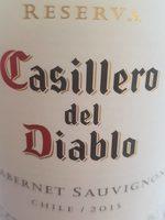 Casillero del Diablo RESERVA CABERNET SAUVIGNON 2014 CHILE - Informations nutritionnelles - fr