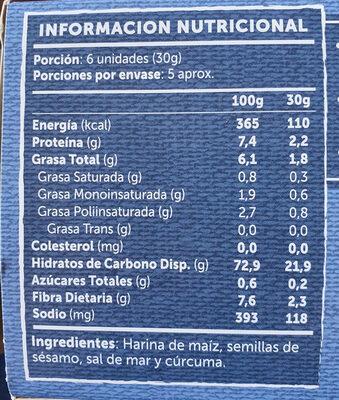 Crackers Artesanales - Ingrediënten - es