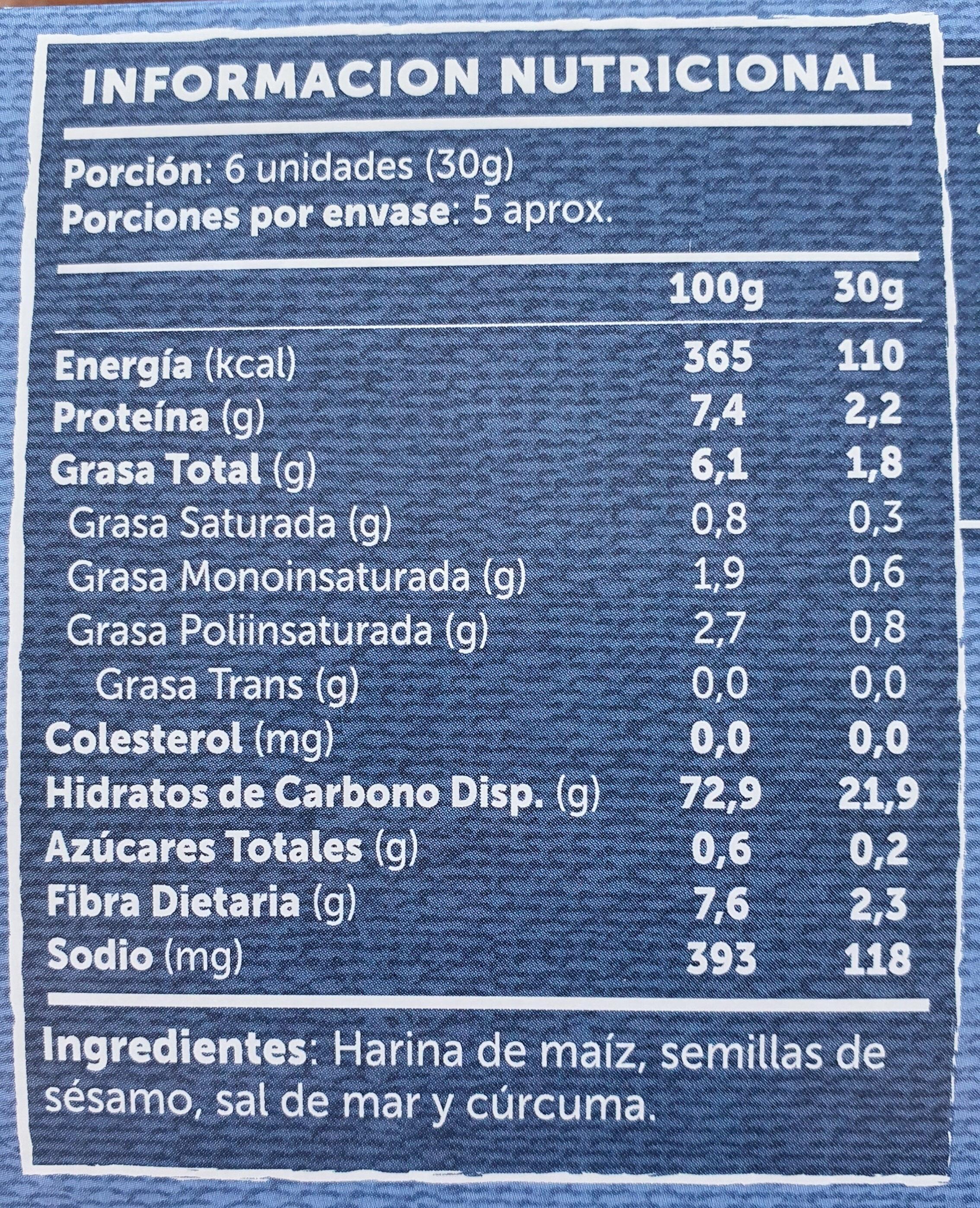 Crackers Artesanales - Voedingswaarden - es