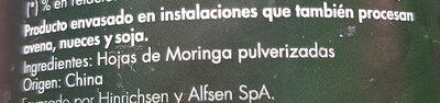 Moringa - Ingrédients - es