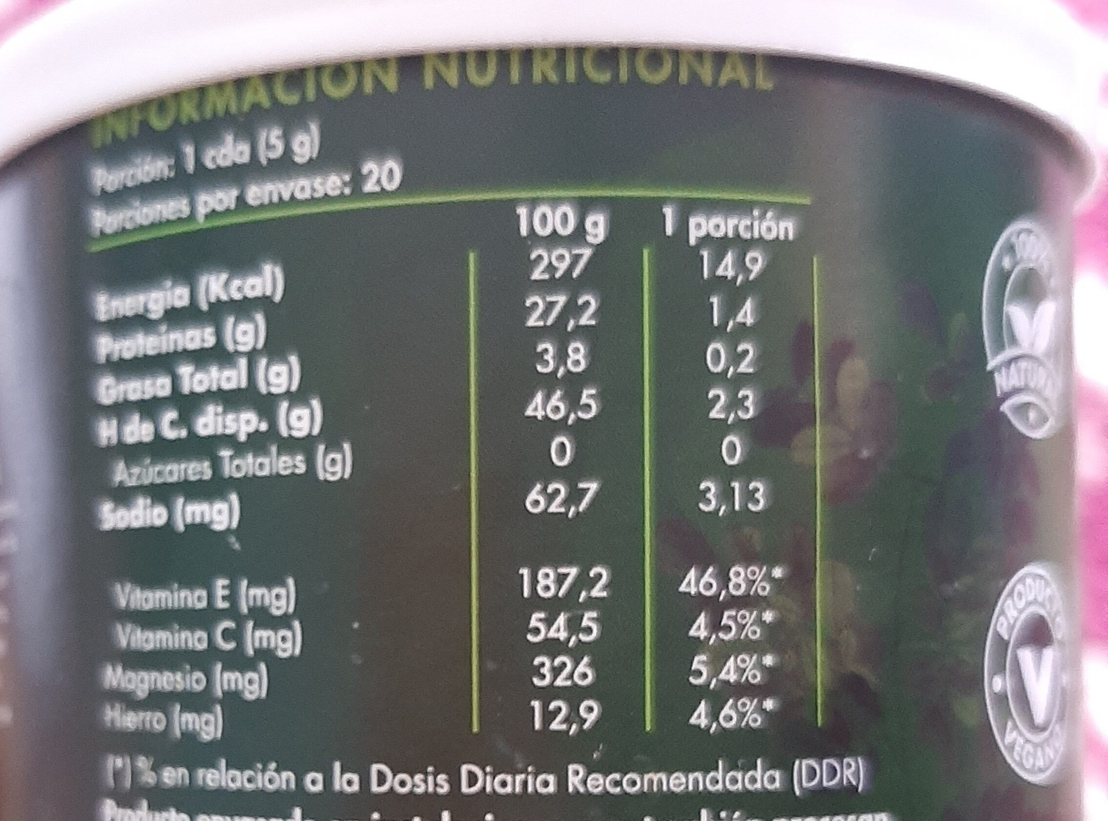 Moringa - Informations nutritionnelles - es
