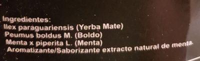 Yerba Mate. Compuesta Especial. Digestiva - Antiacida - Ingredients