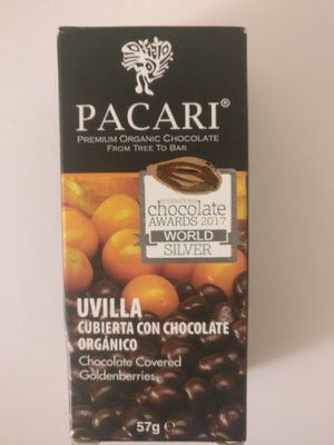Cubierta con chocolate orgánico - Product