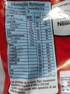 Ricacao - Nutrition facts - fr