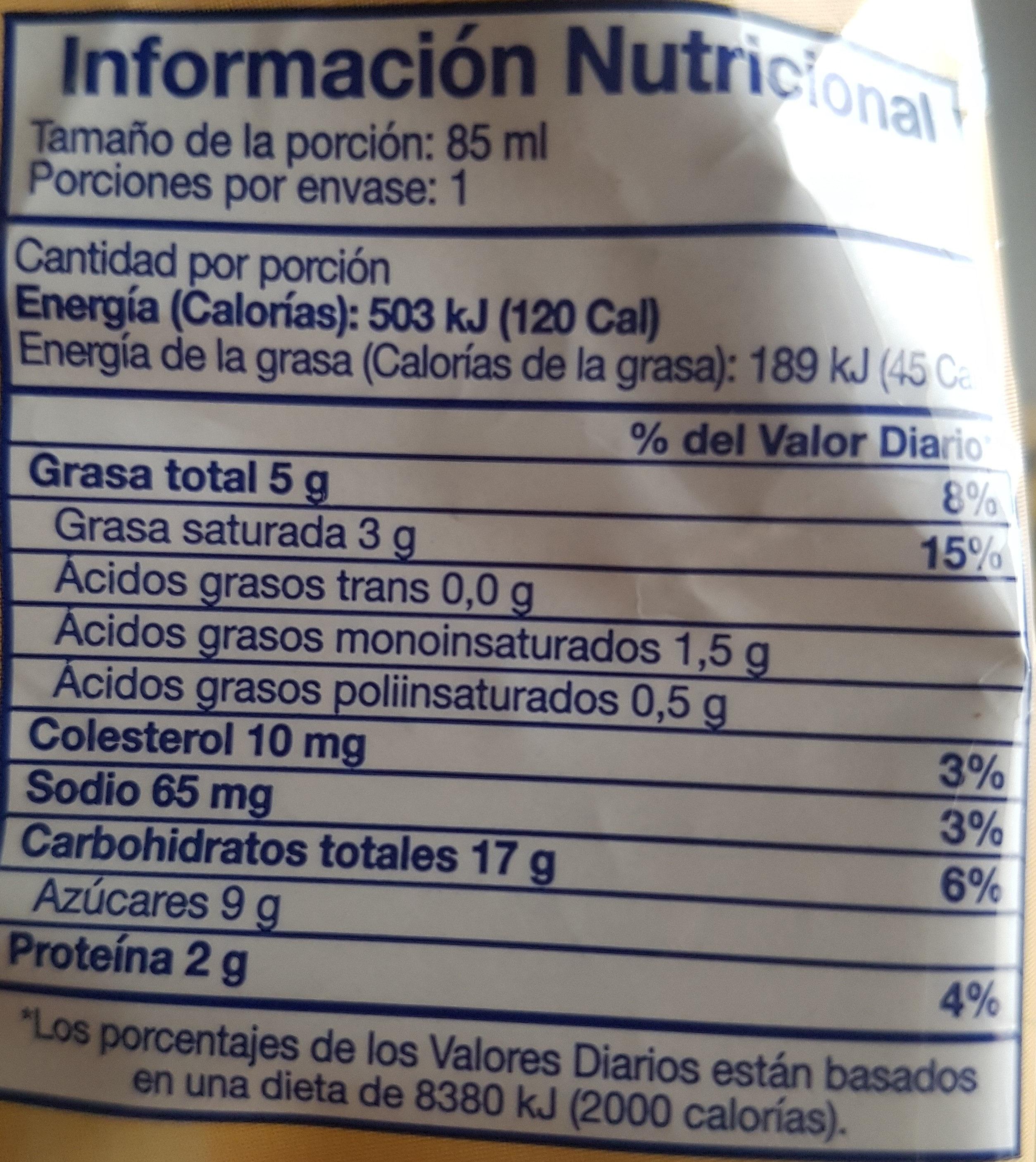 Alfajor - Voedingswaarden