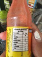 Salsa de ají - Información nutricional