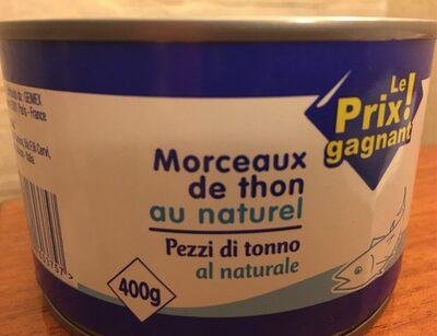 Morceau de thon au naturel - Product