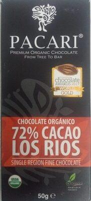 Los Rios Organic Chocolate, 72% Cacao - Product