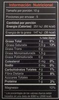 Los Rios Organic Chocolate, 72% Cacao - Nutrition facts