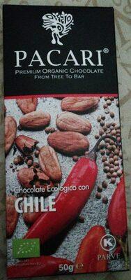 Chocolate ecológico con chile - Product