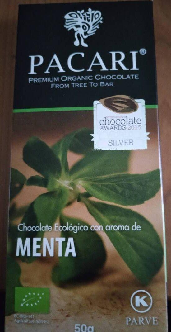 Chocolate ecólogico con aroma de menta - Product