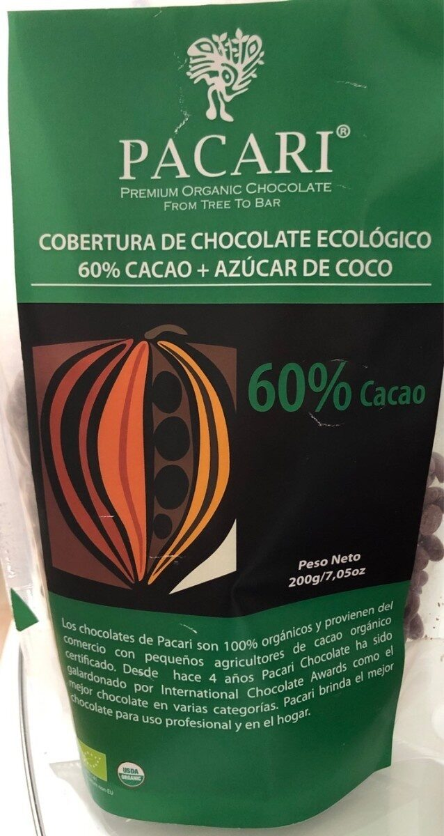 Cobertura chocolate ecologico - Product