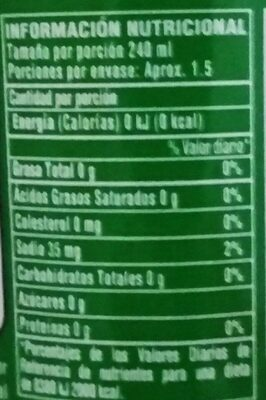 7 Up - Nutrition facts
