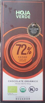 Chocolate 72% cacao - Producto