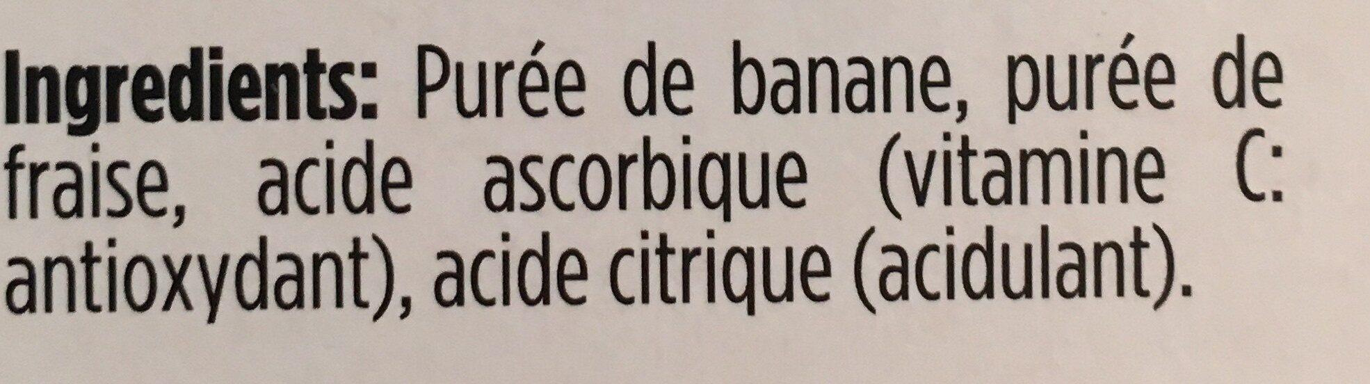Purée de banane et fraise - Ingrédients - fr