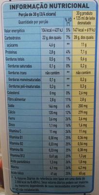 Nesfit - Informação nutricional - pt
