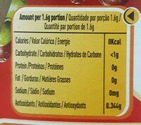 Nescafe Classic - Informação nutricional - fr