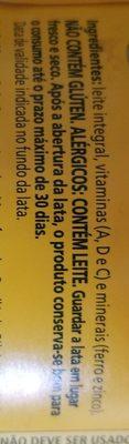 Leite integral em pó Ninho - Ingredientes