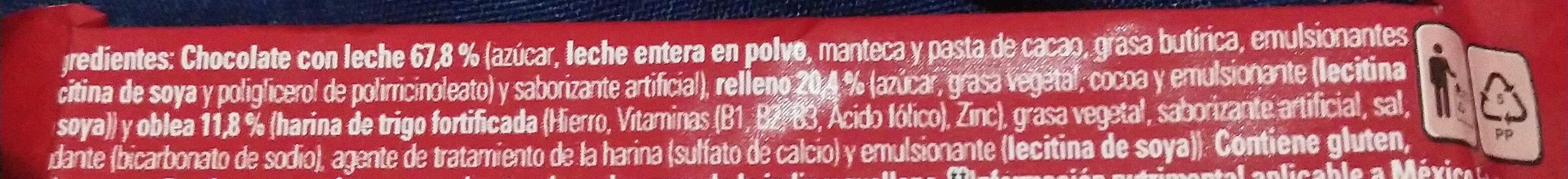 KitKat - Ingredienti - es
